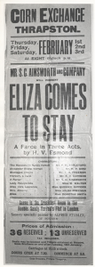 1923 Eliza comes to stay poster
